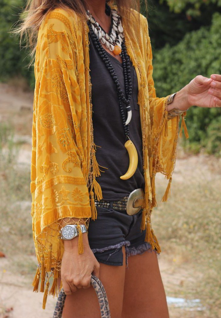 lovely-yellow-velvet-boho-cardigan